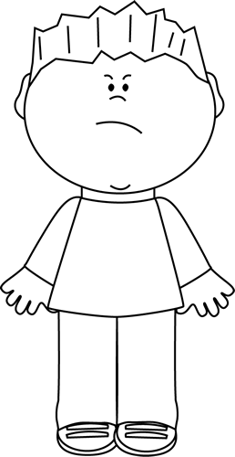 image transparent stock Boy face clipart black and white. With an angry clip