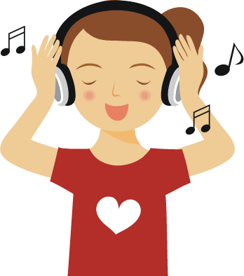 jpg royalty free library Kid listening to music clipart.  collection of listen.