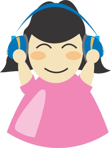 svg library stock someone listening to music clipart #70497518