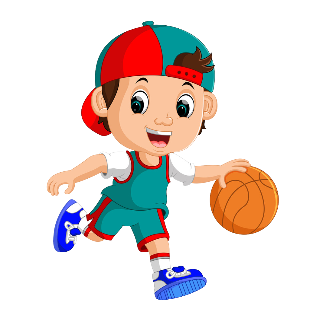 clip library Royalty free art playing. Basketball clip player