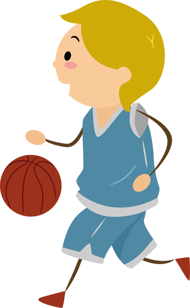 png free Boy playing kids sticker. Basketball clip boys