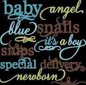 svg transparent stock Baby Boy Words Set SVG file for scrapbooking crafts baby svg files