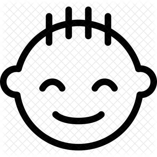 image black and white Baby Icon