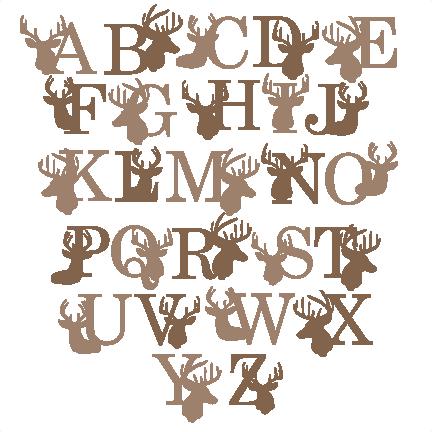 jpg freeuse library Deer Alphabet SVG scrapbook title winter svg cut file snowflake svg