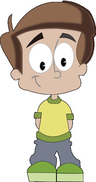 banner stock Boy Cartoon Clip Art at Clker
