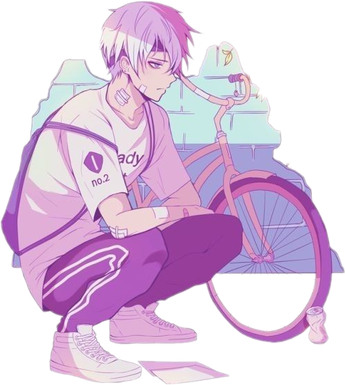 library aesthetic boy street anime bike squat localcupcakeaesth