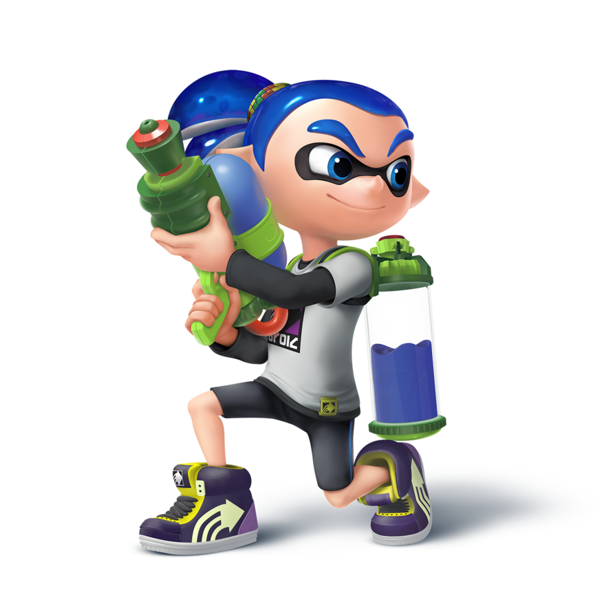 banner transparent library Inkling boy by zesiul. Splatoon transparent male