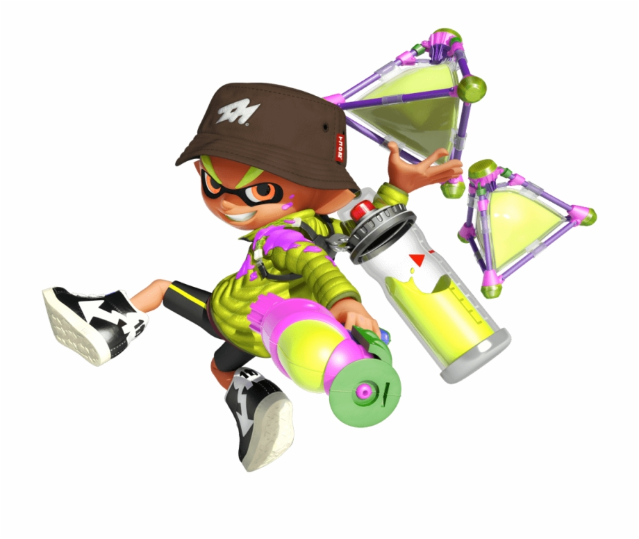 graphic black and white Splatoon transparent male. Take inkling boys png