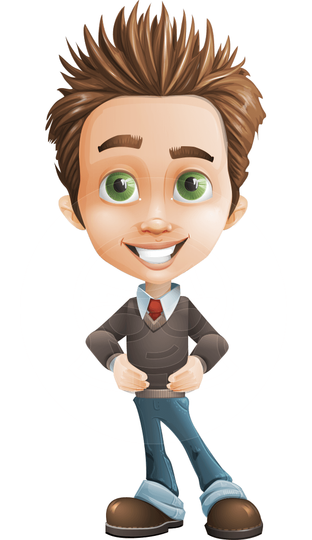 banner black and white library Cartoon character zack the. Vector cartoons boy