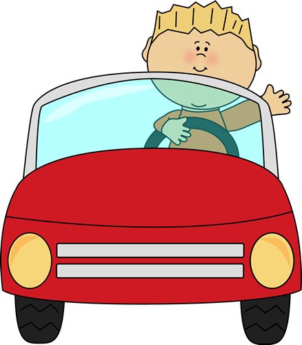 picture black and white download Boy driving a and. Boys clipart car.