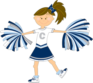 banner royalty free library Boys clipart cheerleader. Cheer chick charlie about