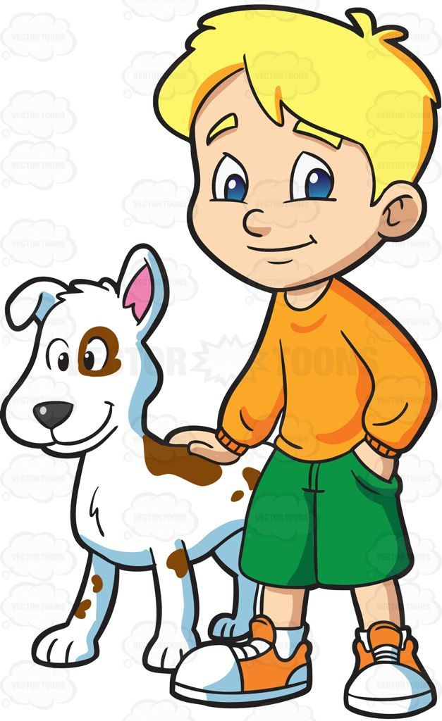 clip art library download Boys clipart dog. A boy with his