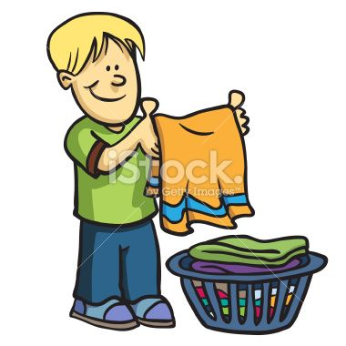picture black and white download Boys clipart laundry. Kids