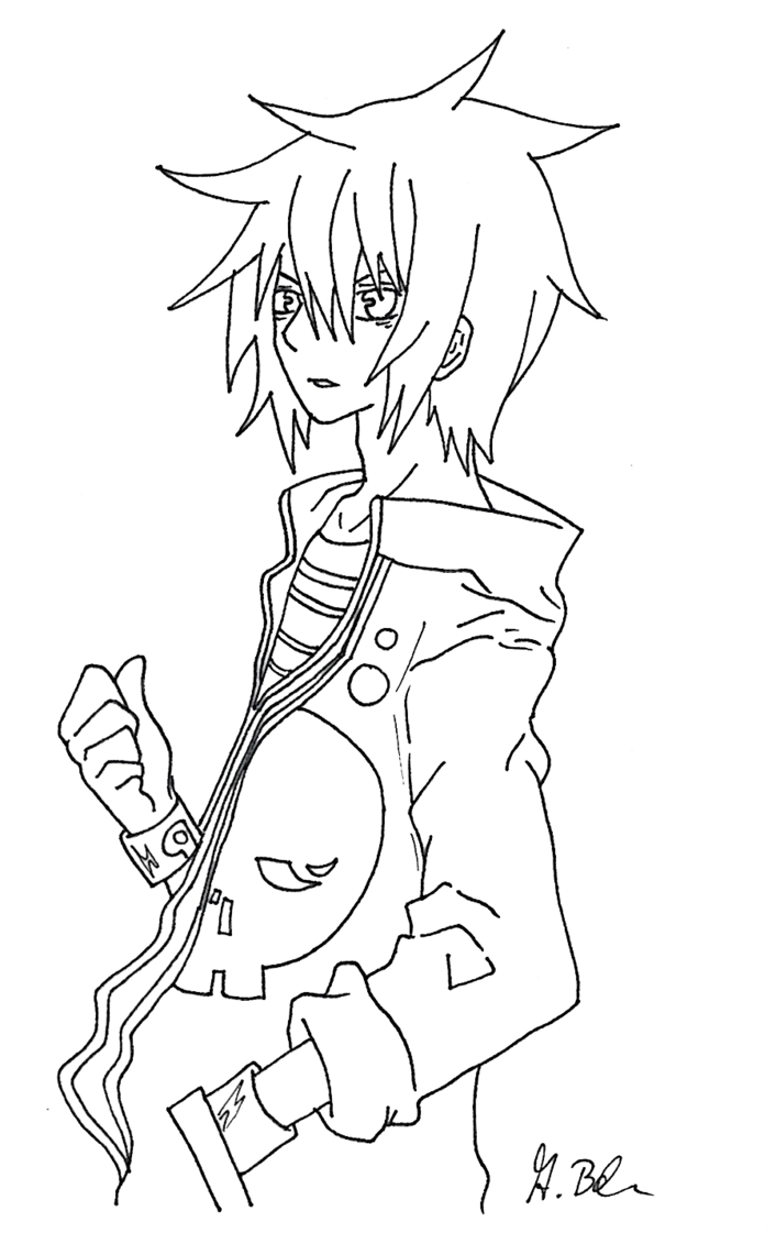 svg free download Lineart drawing boy. Anime at getdrawings com