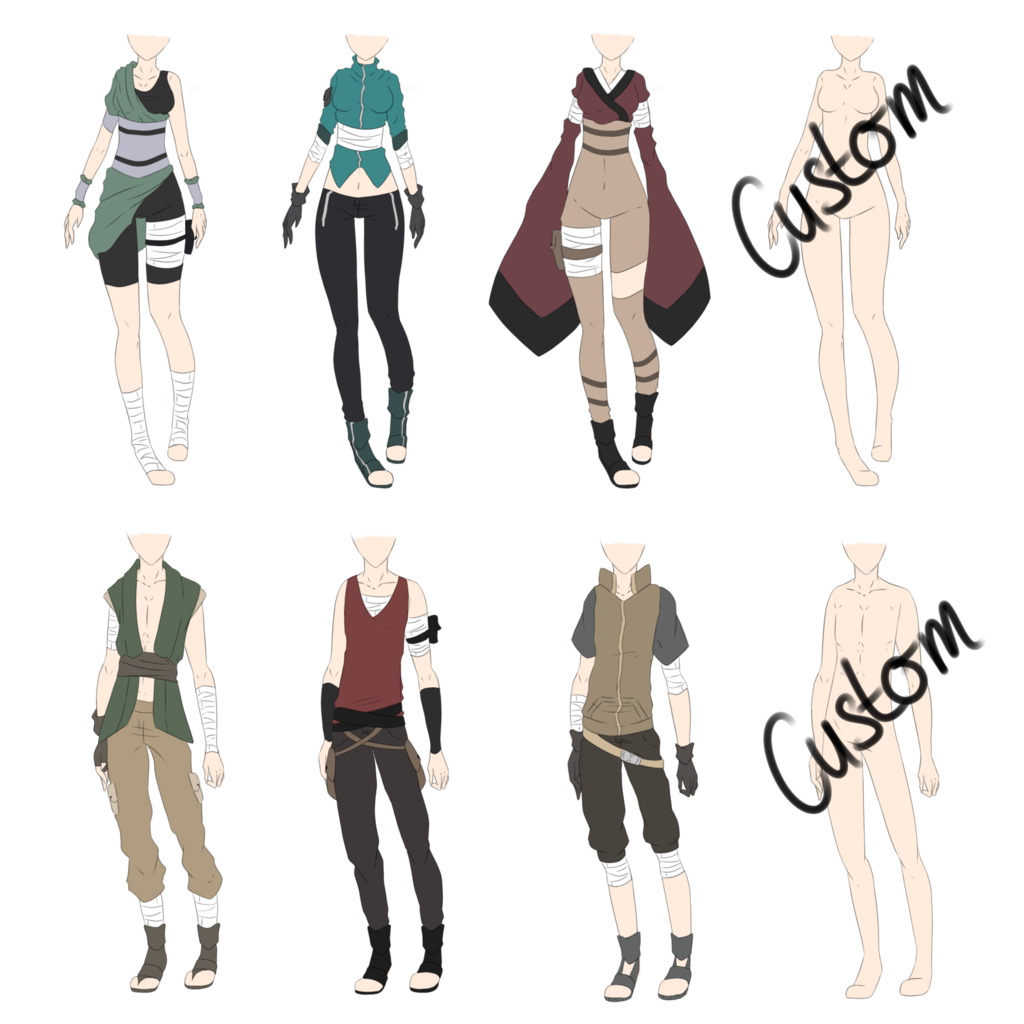 vector library stock Drawing shirts anime. Naruto outfit adoptables closed