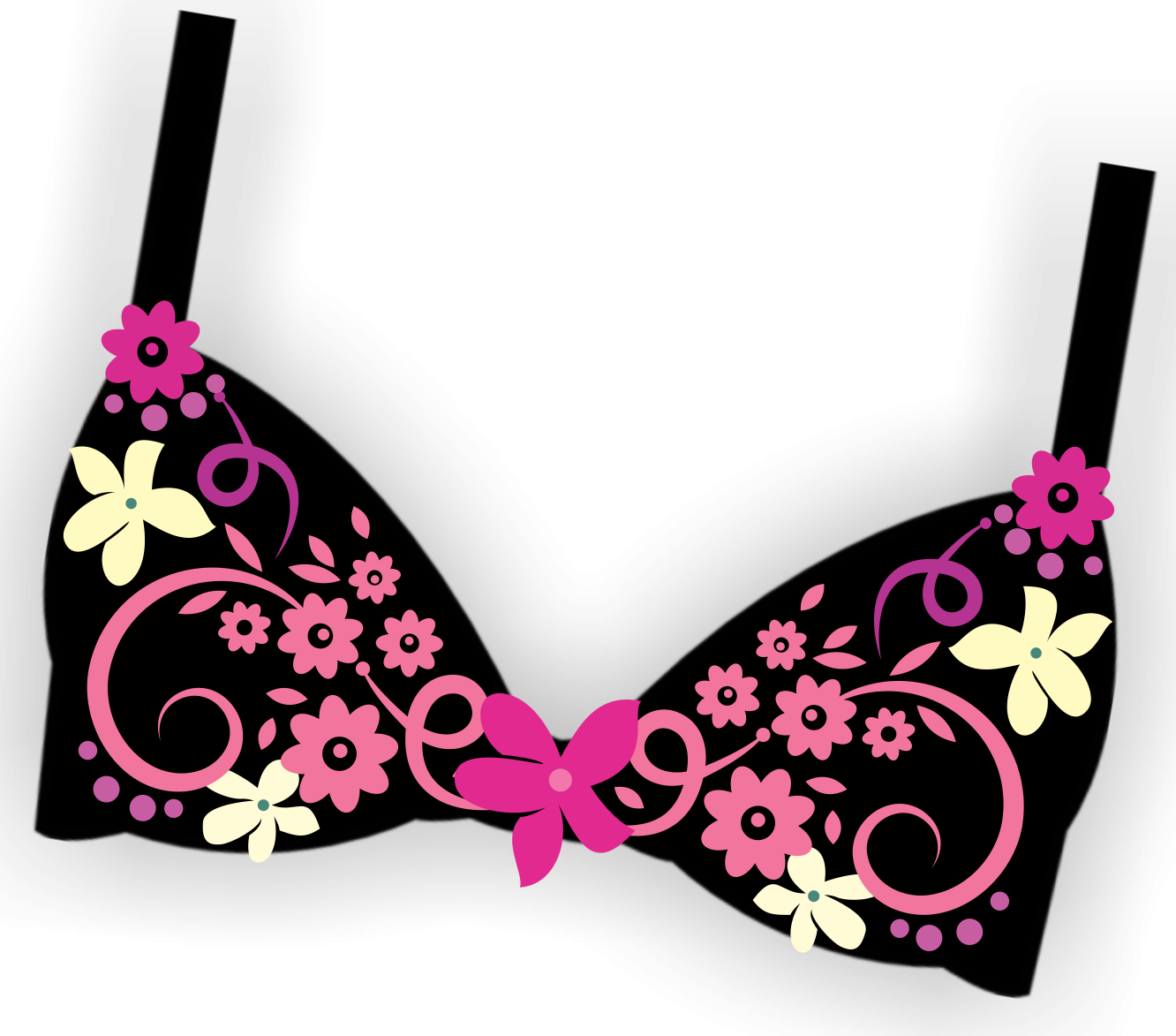 svg black and white stock Bra clipart. Bling the nanticoke health.