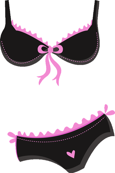 banner black and white Ch de lingerie corsets. Bra clipart.