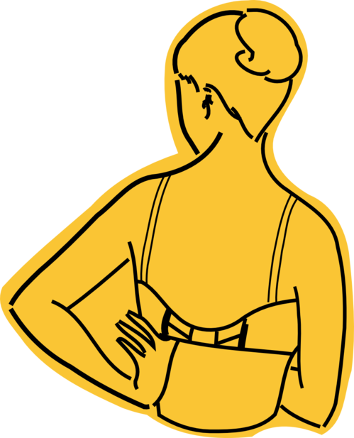 clip art free download How to wear a. Bra clipart right arm
