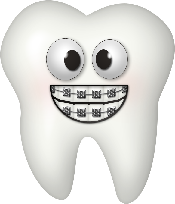 image freeuse stock Braces clipart. Kaagard toothygrin tooth png