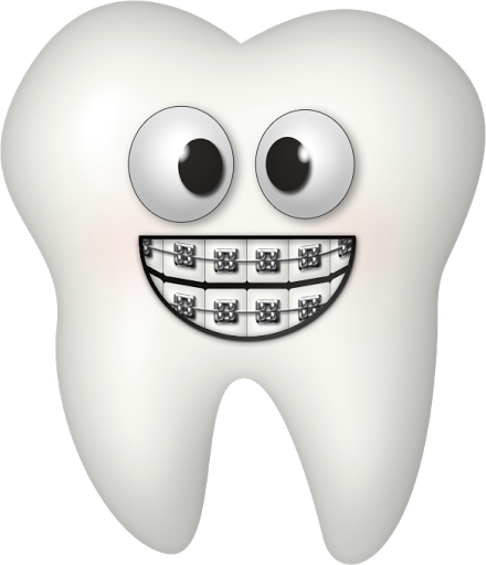 banner library download Braces clipart human tooth. Toothy grin lbumes web.