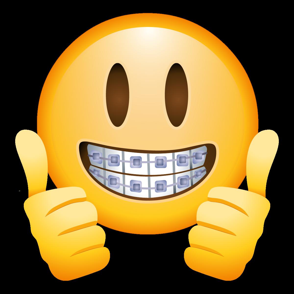banner transparent stock Braces clipart los. Emoji with emojis pinterest