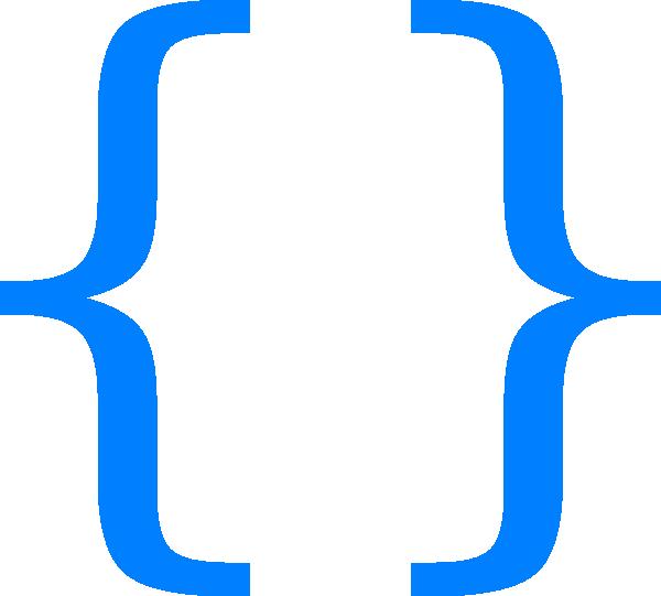 clip art stock Blue curly clip art. Braces clipart svg