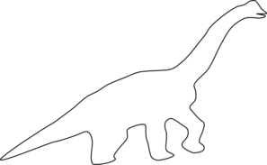 clip art free download Brachiosaurus Outline Clip Art at Clker