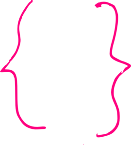 banner freeuse library Pink Curly Bracket Clip Art at Clker