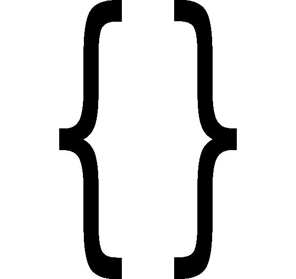 graphic transparent stock bracket vector parenthesis #110110808