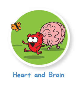 image The awkward yeti heart. Brain clipart angry