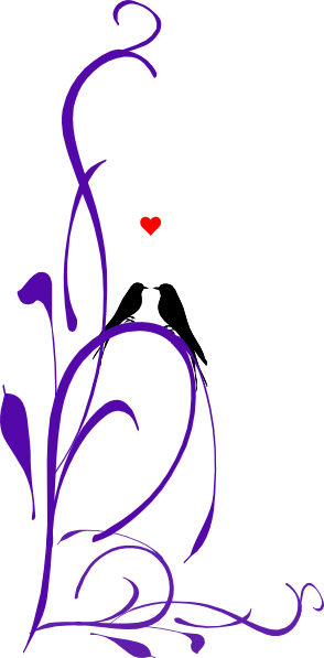 freeuse download Love birds on a. Branch clipart long.