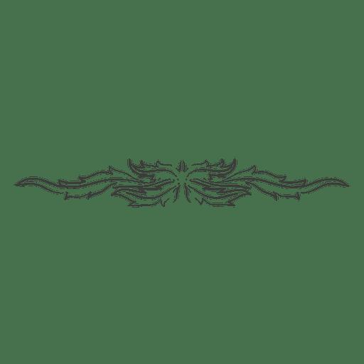 vector free Decorative hand drawn curves divider