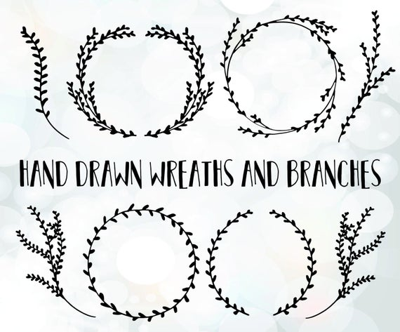 clip download Branch wreath clipart. Svg files vector file