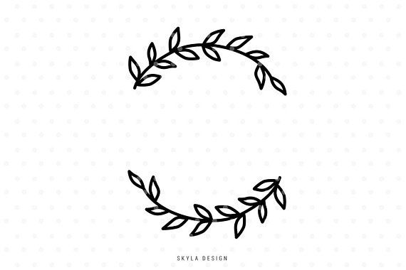 svg royalty free Pin on products . Branch wreath clipart