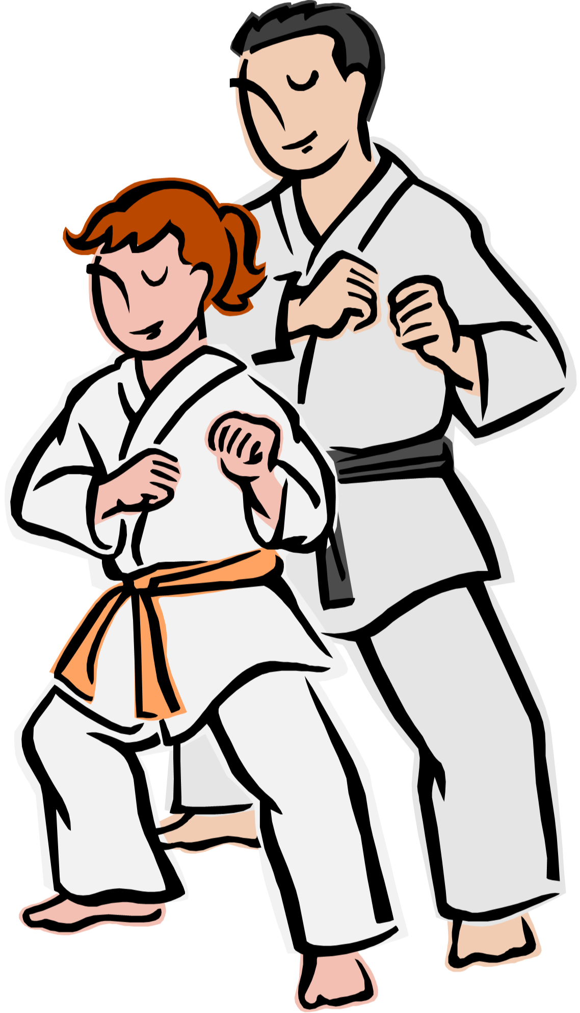 clip art freeuse stock Brave clipart martial arts. Karate friends free on