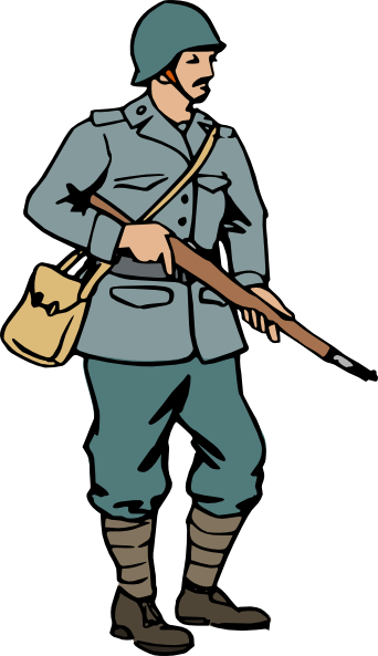 graphic black and white Italijanski vojak prva svetovna. Brave clipart soldier
