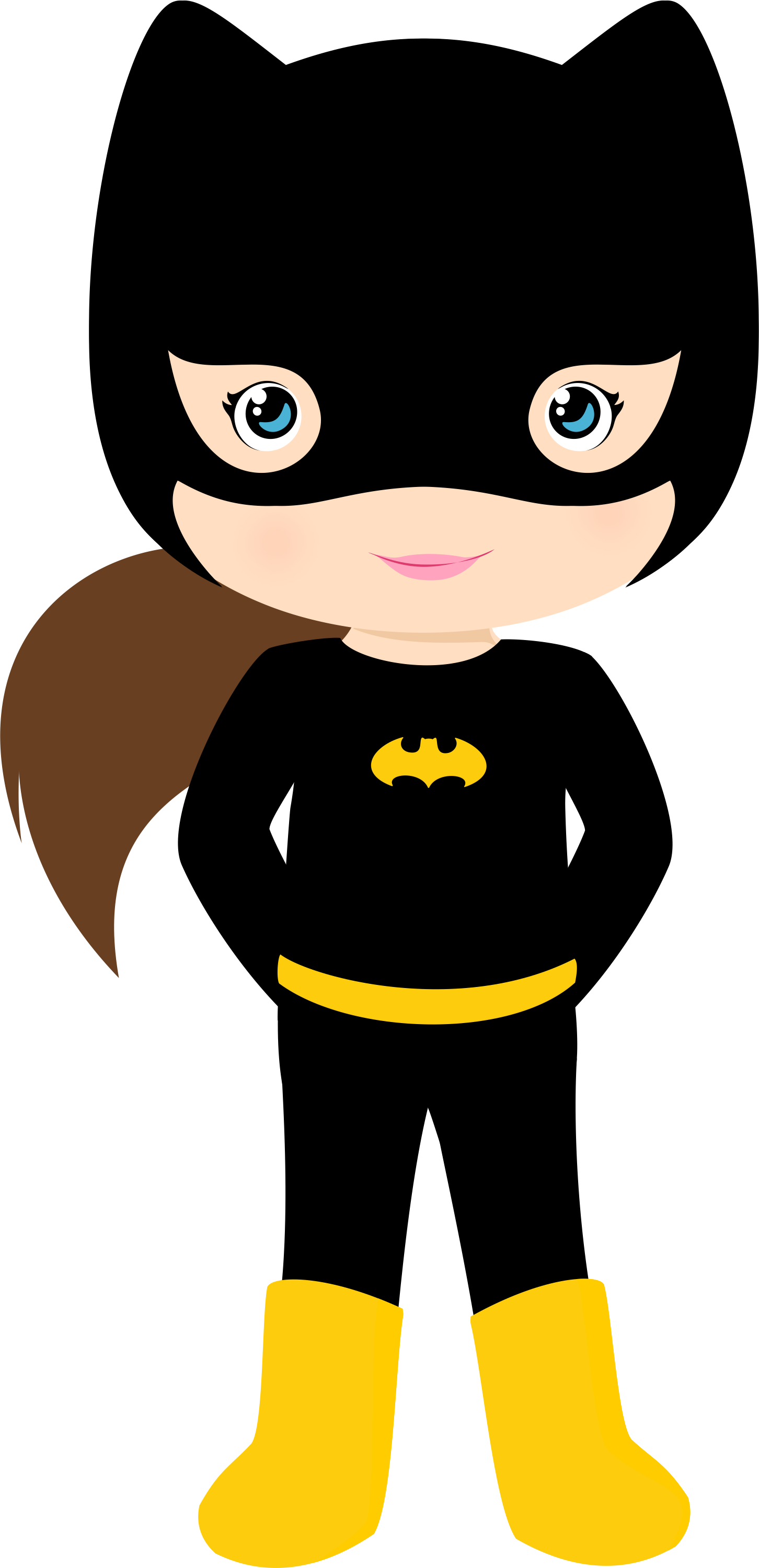 black and white Brave clipart superboy. Batgirl party ideas by