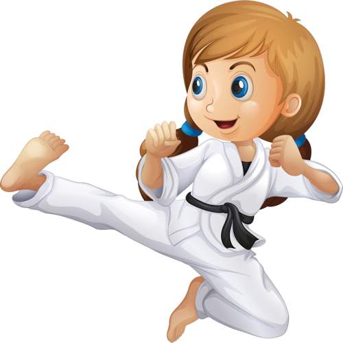 vector Personnages illustration individu personne. Martial arts clipart karate kick.
