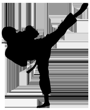 clipart royalty free Brave clipart taekwondo kicks. Kick png black and