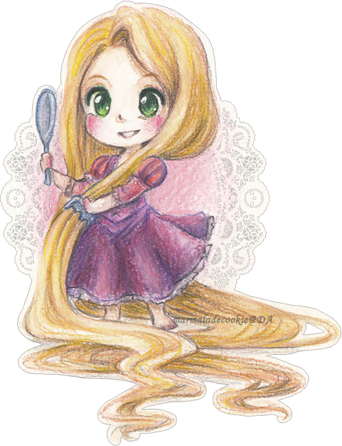 image library download Rapunzel by marmaladecookie on. Drawing princess disney