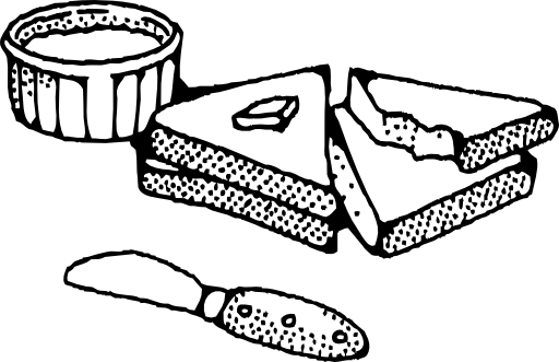 picture download Sliced Bread With Butter Clipart