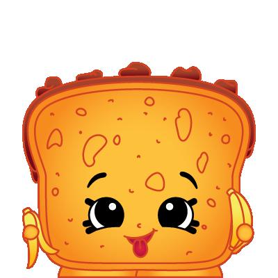 clipart black and white stock Bread clipart character. Shopkins lana banana a