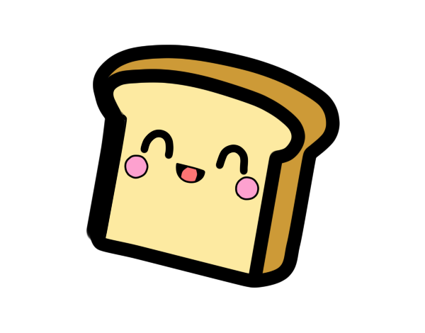 picture transparent stock Bread clipart kawaii. By elgranl on deviantart
