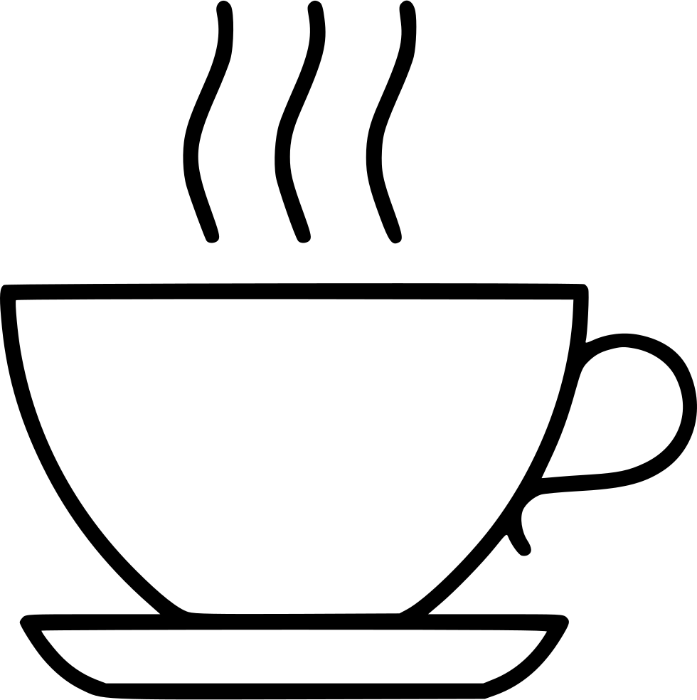 clip art black and white library Break clipart coffee break. Tea beverage lunch svg