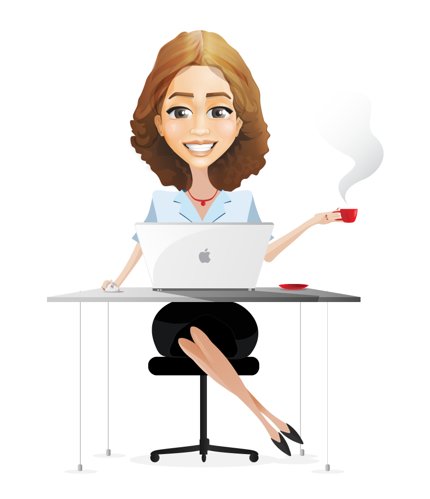 clip art freeuse stock Lawyer clipart woman lawyer. The girl behind pen.