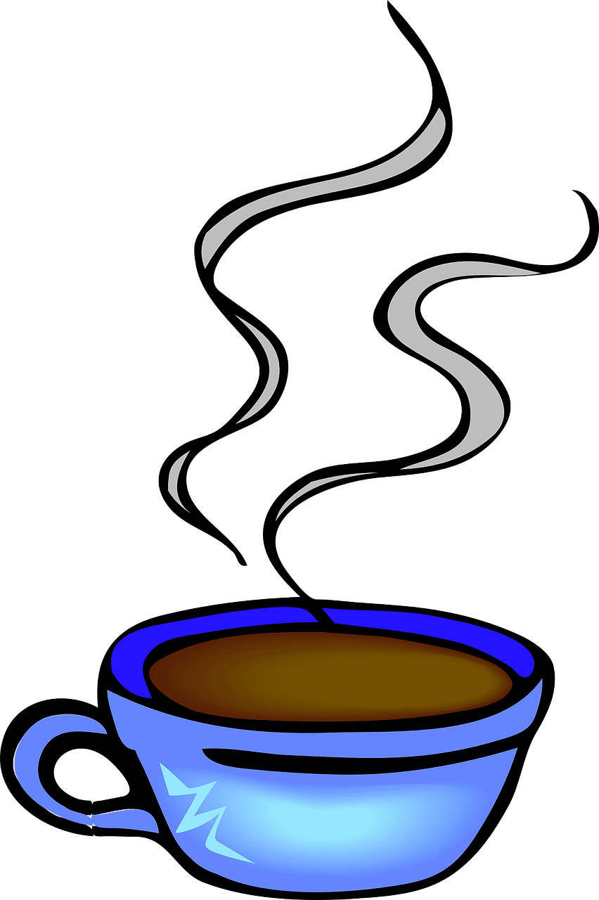 image royalty free library Coffee cup hot steaming. Break clipart morning tea