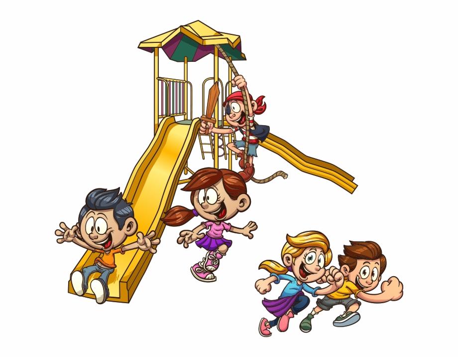 vector library  playground slide child. Break clipart school break time