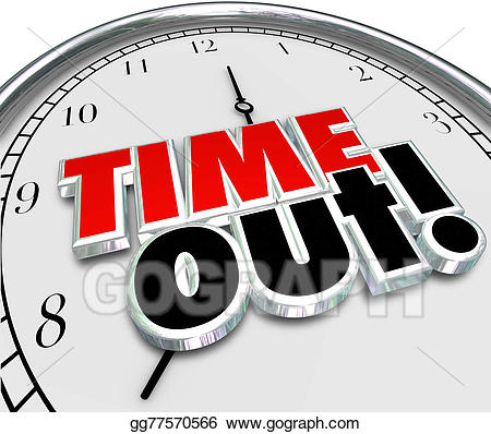 png freeuse Stock illustration words clock. Break clipart time out