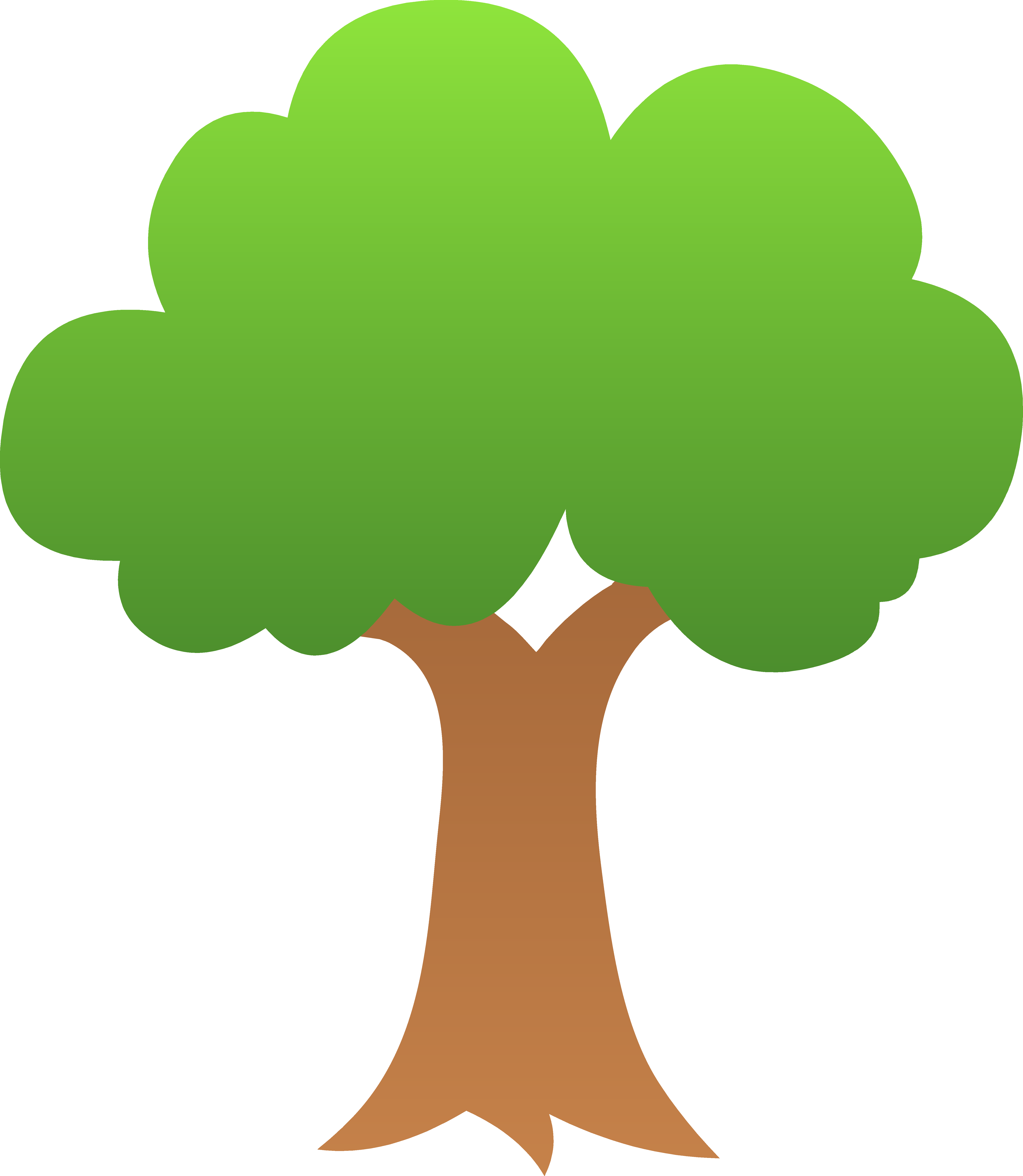 download Break clipart wood. Tree tiny green shaded.
