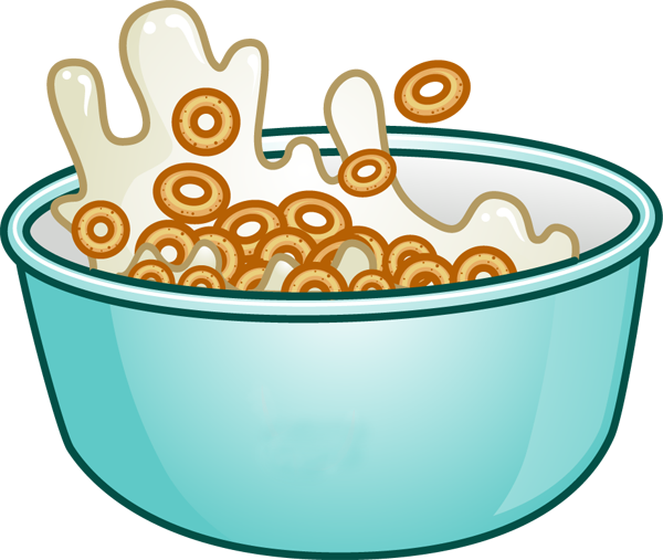 vector black and white stock Breakfast clipart.  collection of cereal